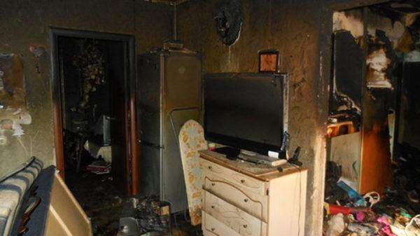 Ремонтник поджег квартиру