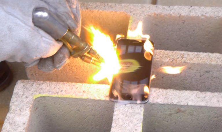 испытание газовой горелкой