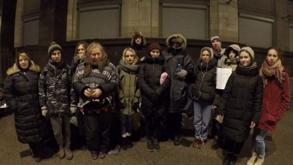 Зоозащитников задержали у Госдумы